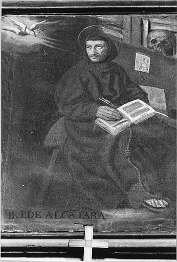 Tableau : 'Saint Pierre d'Alcantara', huile sur toile