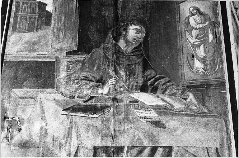 Tableau : 'Saint Jean Dun Scot', huile sur toile