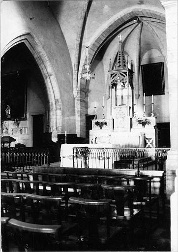 Clôture de choeur :motif décoratif de lancettes, fer forgé