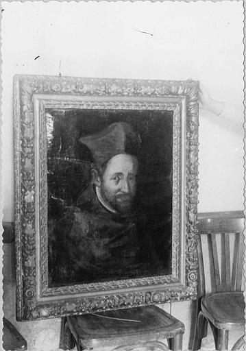 Tableau, cadre : 'Portrait du cardinal de Joyeuse', huile sur toile, cadre