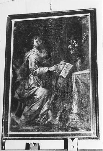 Tableau : 'Saint Luc évangéliste', huile sur toile