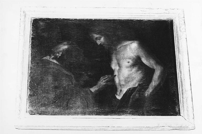 Tableau : 'L'incrédulité de saint Thomas', huile sur toile