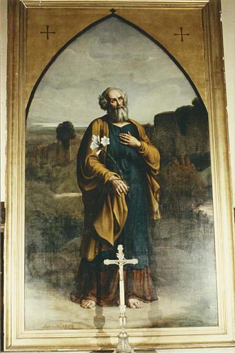 Tableau : 'Saint Joseph', huile sur toile