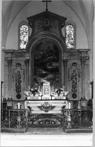 autel, gradins d'autel, tabernacle (maître-autel)