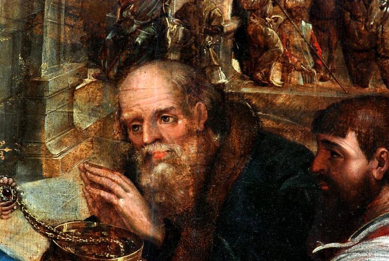 tableau et son cadre : L'Adoration des Mages