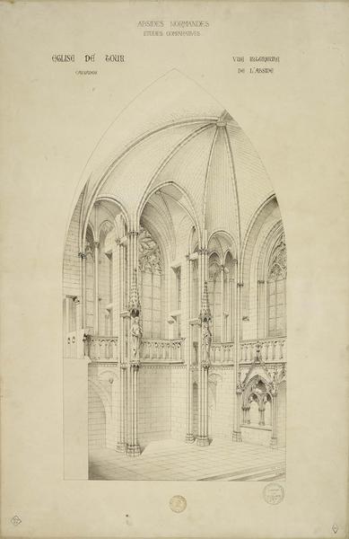 Vue intérieure de l'abside