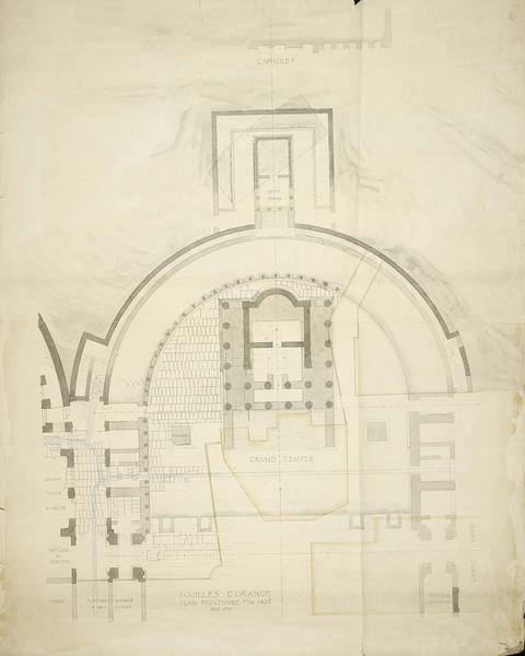 Fouilles fin 1925 : plan provisoire