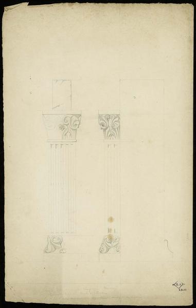 Détail des pilastres de la maison correspondant au plan n°4590