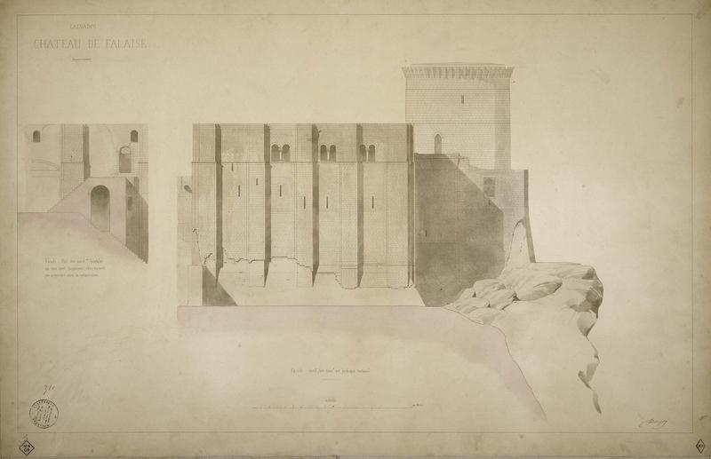 Façade est et façade nord : élévation, coupe