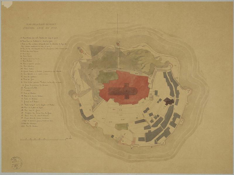 Plan du Mont-Saint-Michel