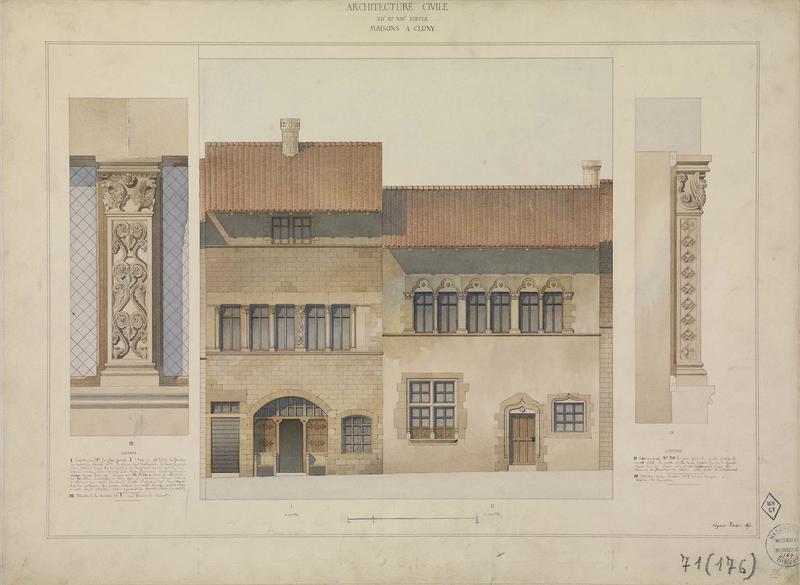 Élévation des façades, élévation des pilastres