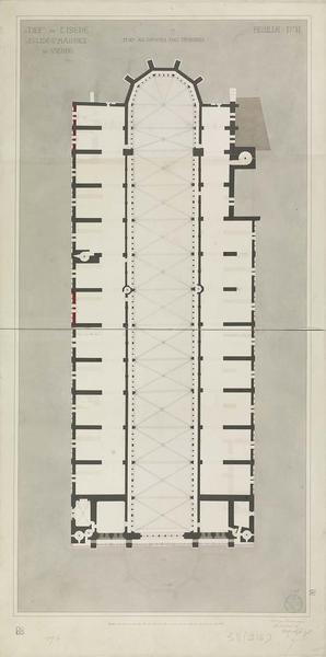 Plan au niveau des tribunes