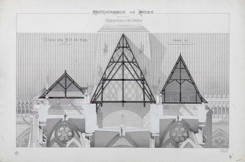 Charpente du XVème siècle, coupe