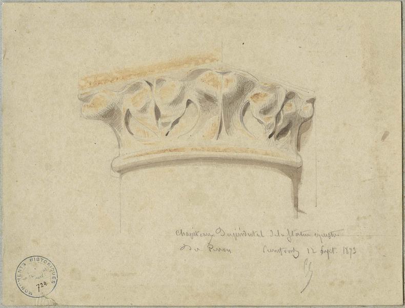 Piédestal de la statue équestre de Louis d'Orléans