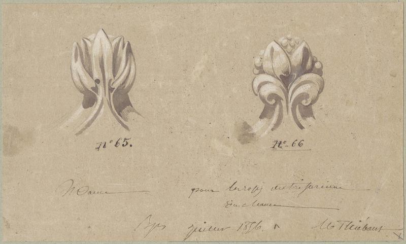 Choeur, sculpture pour les roses du triforium