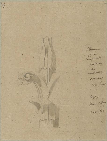 Façade sud, fleuron pour les grands pinacles des contreforts de la nef