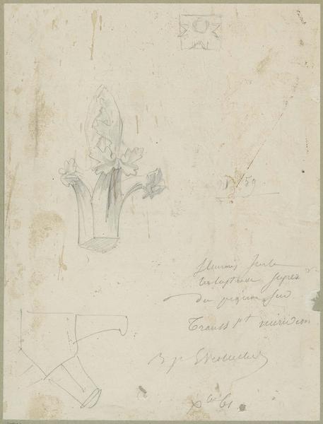 Transept sud, fleurons