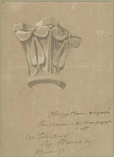 Transept nord, chapiteau engagé dans le triforium