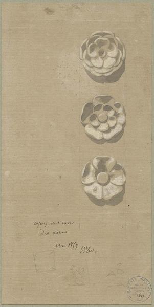 Choeur, trois rosaces pour le maître-autel