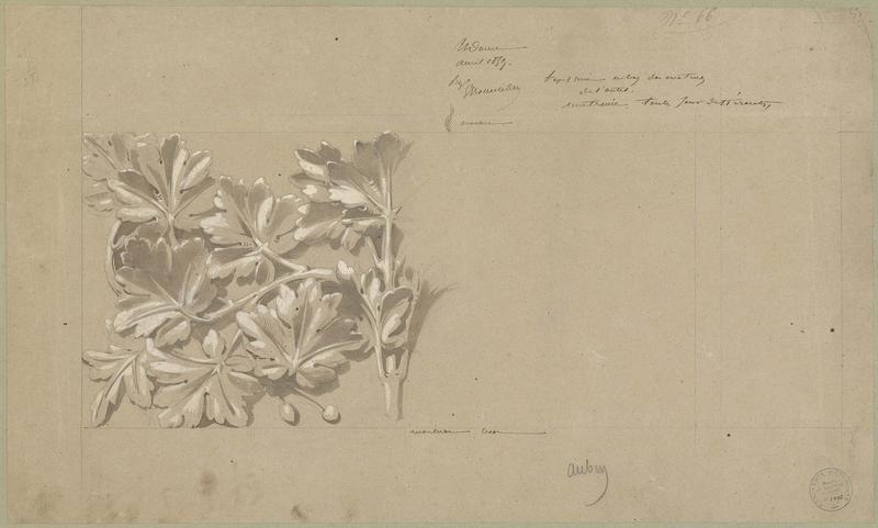 Choeur, détail de sculpture pour les arcatures inférieures du maître-autel