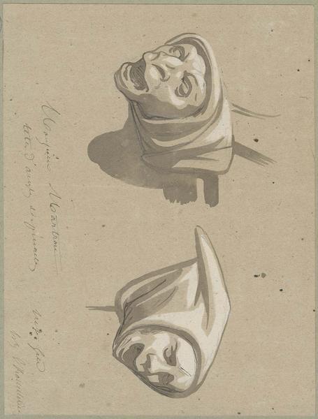 Façade sud, têtes d'amortissement des pinacles de la nef