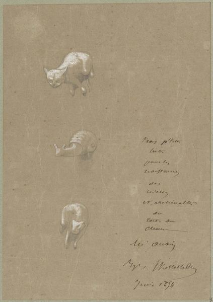 Choeur, trois petites bêtes d'amortissement pour les naissances des niches et archivoltes