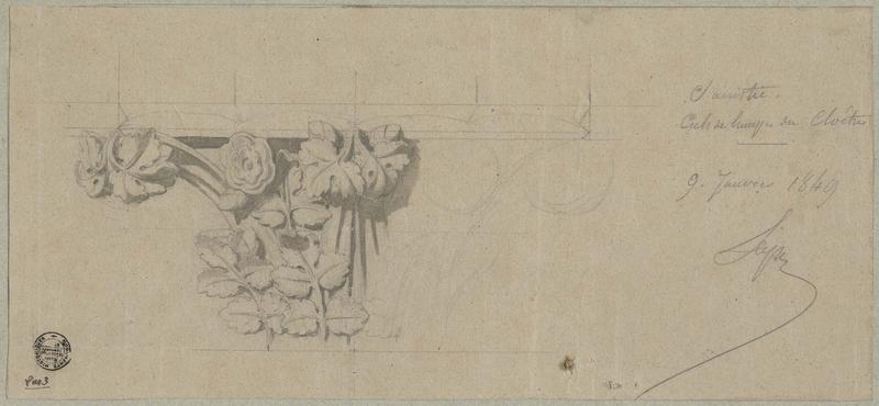 Sacristie, cloître, culs-de-lampe