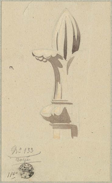 Détail d'un fleuron non localisé