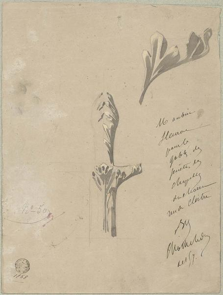 Choeur nord, fleuron pour les gâbles des fenêtres des chapelles