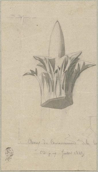 Sacristie, détail d'un fleuron