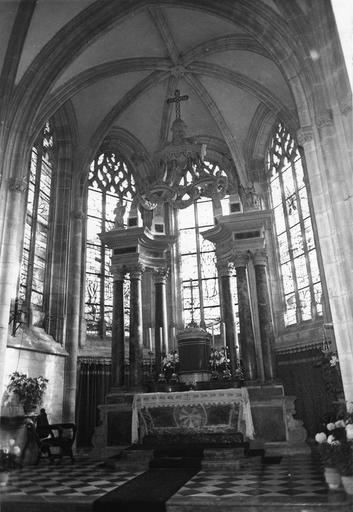 maître-autel, pierre et marbre, après restauration