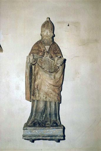 statue : saint Maur, bois polychrome