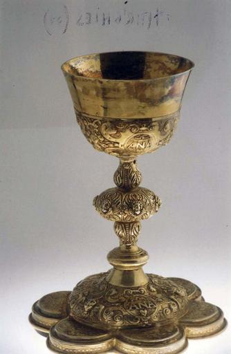 calice, argent doré, 1620