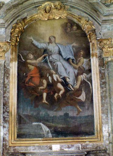 maître-autel : L'Assomption, huile sur toile, avant restauration