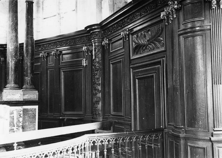 Lambris de revêtement, bois peint