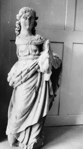 Statue : Vierge à l'Enfant, bois
