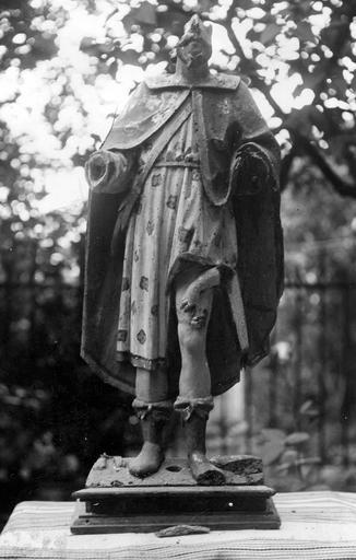Statue : saint Roch, bois polychrome