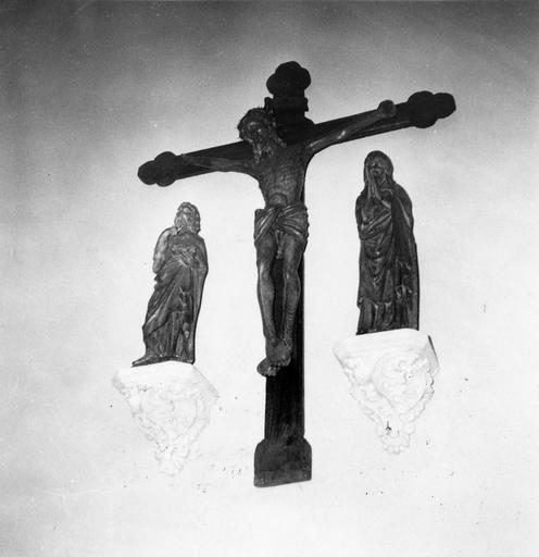 Groupe sculpté : Calvaire, bois