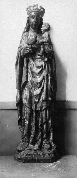 statue dite la Vierge à l'oiseau : Vierge à l'Enfant, vue générale