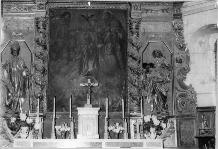 Retable, tableau : le Couronnement de la Vierge