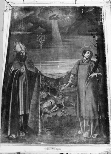 Tableau : saint Martin évêque et saint Clément