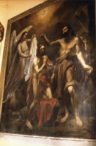 Tableau : Baptême du Christ avec ange (Le)