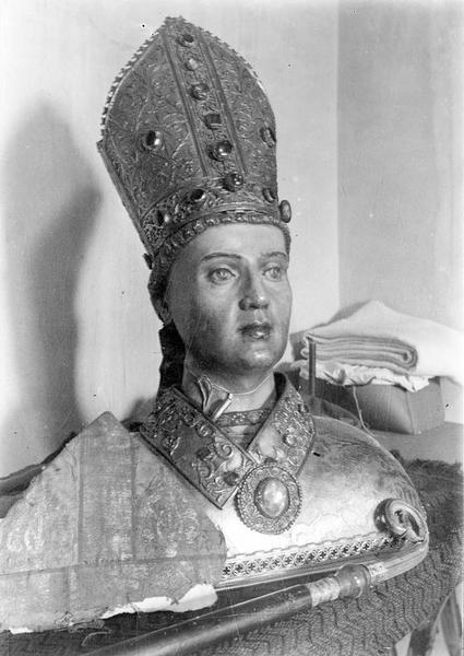 Buste-reliquaire : saint Lizier