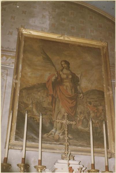 Tableau : sainte Nathalène