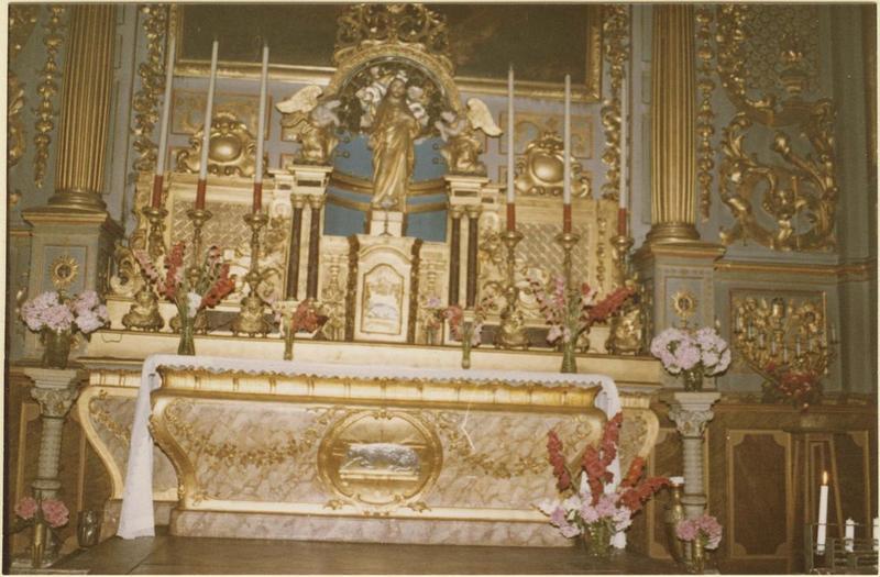 Autel, retable du maître-autel, vue partielle