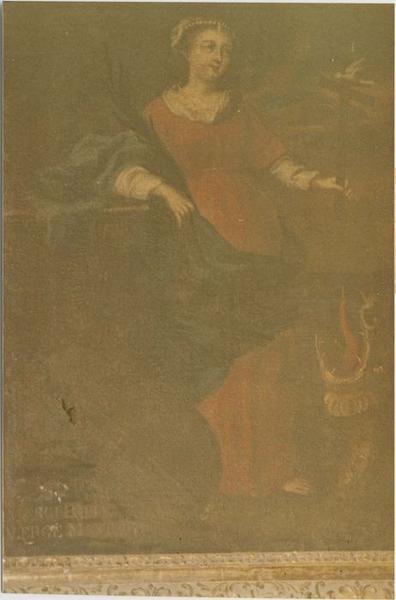 Tableau : sainte Marguerite terrassant le dragon, vue générale