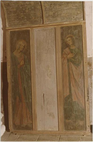 Tableau, dais d'autel : Vierge (la), saint Jean, vue générale