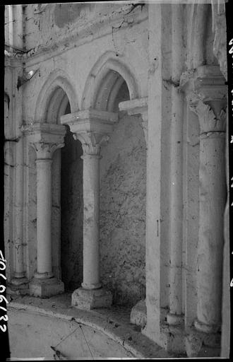 Intérieur : arcature du triforium du choeur
