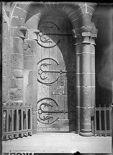 Portail mozarabe ouest : pentures des vantaux