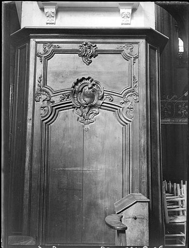Intérieur : boiseries de porte